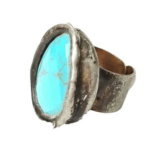 Free People Mikal Winn Turquoise Cocktail Ring